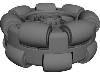 Omni Wheel 4 inch CAD 3D Model