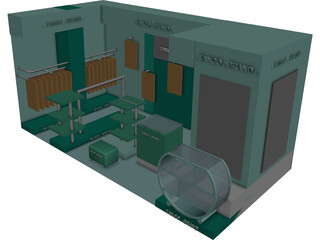 Display Booth 3D Model