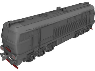 M62 Locomotive 3D Model