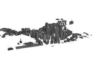 Boston Downtown 3D Model