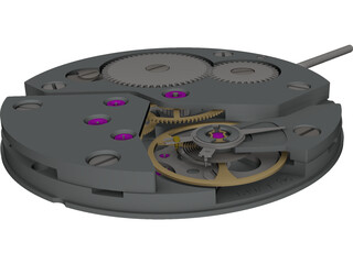 Watch Working Moving Model CAD 3D Model