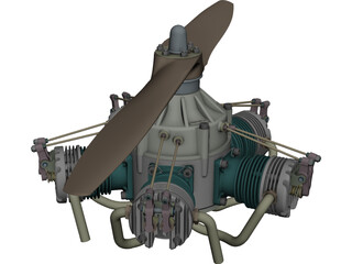HAHN Sternmotor CAD 3D Model