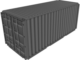 Shipping Container ISO 20ft  CAD 3D Model