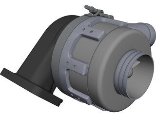 Aerocharger CAD 3D Model