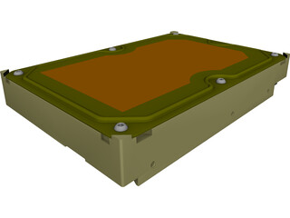 3.5 HDD SATA CAD 3D Model