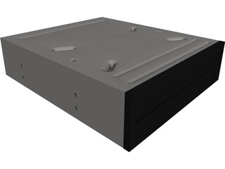 5.25 DVD Burner CAD 3D Model