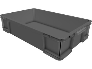 Storage Box 33 ltr CAD 3D Model