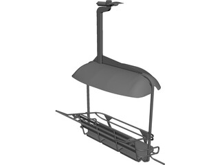 Triple Ski Lift Chair CAD 3D Model