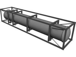 LNG/Cryo Container ISO 40ft 3D Model