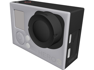 GoPro Hero 3 CAD 3D Model