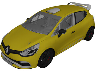 Renault Clio RS Cup (2014) 3D Model 3D Preview