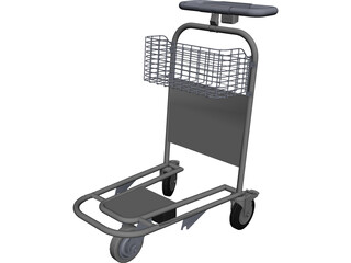 Airport Trolley CAD 3D Model