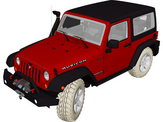 Jeep Wrangler Rubicon Series III (2012) 3D Model