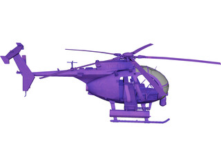 AH-60 Little Bird 3D Model