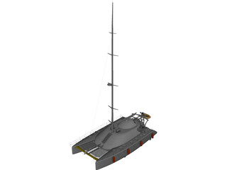 Cruising Catamaran 3D Model