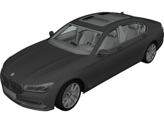 BMW 7-Series G11 (2016) 3D Model 3D Preview
