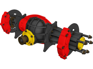 Top Fuel Nodular Differential 3D Model