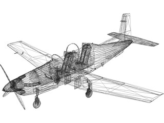 North American T-6 Texan II 3D Model