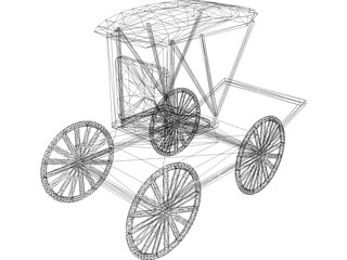 Buggy Horse Drawn 3D Model