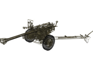 M101A1 Howitzer 3D Model