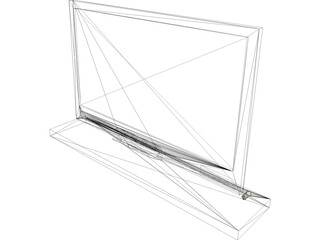 Sony Flat Screen Monitor 3D Model