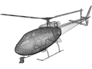 Eurocopter AS-350 B2 Squirrel Ecureuil 3D Model