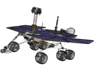 Mars Spirit Rover Exploration 3D Model