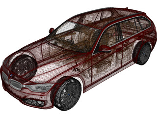 BMW 3-Series Touring F31 (2013) 3D Model