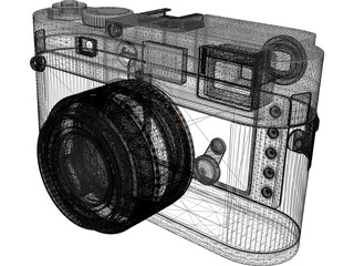 Leica M9 Digital Camera 3D Model