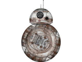 BB8 Droid 3D Model