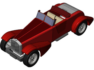 Classic Vehicle 3D Model