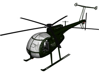 MD Helicopters MH-6 Little Bird 3D Model