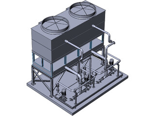 Cooling Water Module 3D Model