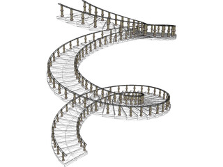 Spiral Staircase  3D Model