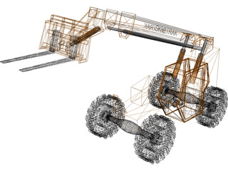 Forklift Skytrack All Terrain 3D Model