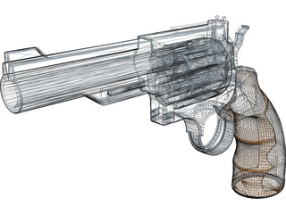 Smith and Wesson Revolver 3D Model