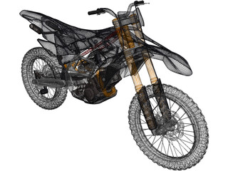 Motocross Bike 3D Model