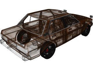 Toyota Corolla DX 3D Model