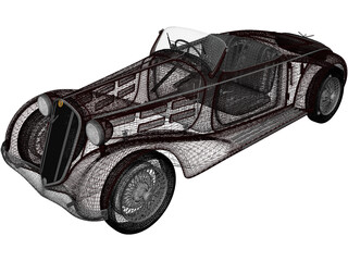Alfa-Romeo 6C 2300 S Touring Pescara Spider (1935) 3D Model