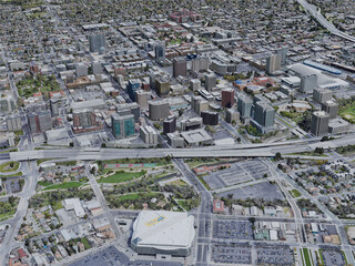 San Jose City, CA, USA (2019) 3D Model