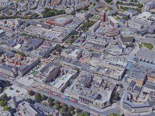 Plymouth City, UK (2019) 3D Model