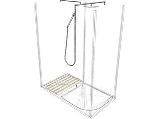 Shower Enclosure 3D Model