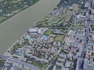 Budapest City North, Hungary (2019) 3D Model
