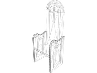 Church Chair 3D Model