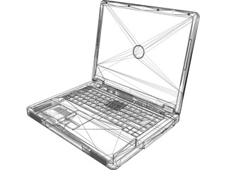 Dell Inspiron 1100 Laptop Computer 3D Model