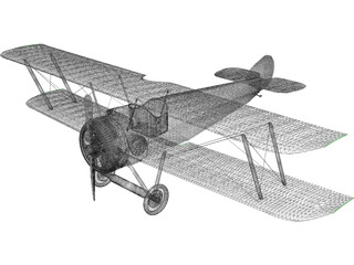 Biplane Sopwith Camel 3D Model
