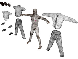 Man [+Clothes] 3D Model
