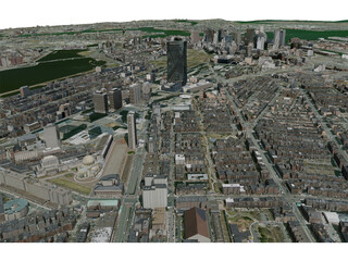 Boston City 3D Model