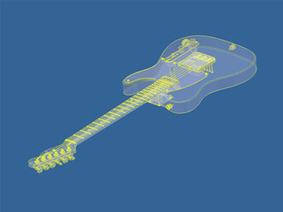 Guitar Fender Telecaster 3D Model