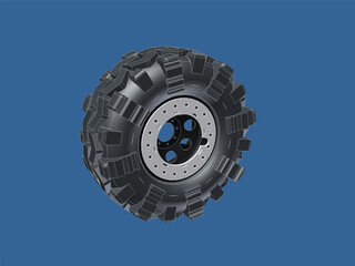 Interco TSL SX on Beadlock Wheel 3D Model